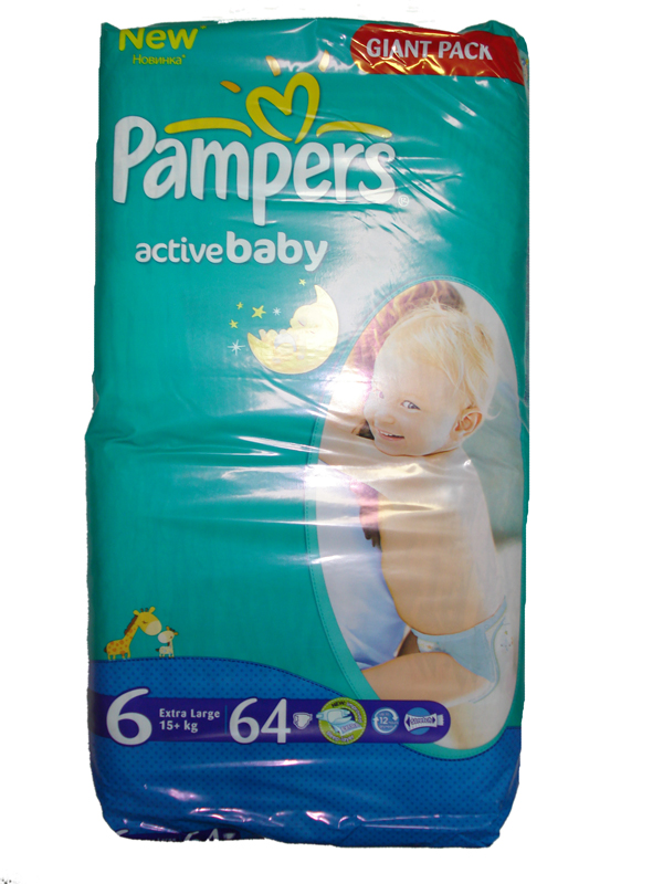 Pampers Active baby 6 extra large 64 ks