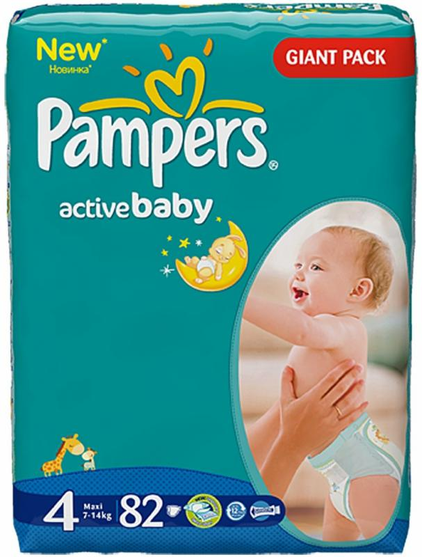 Pampers Active baby 4 maxi 82 ks